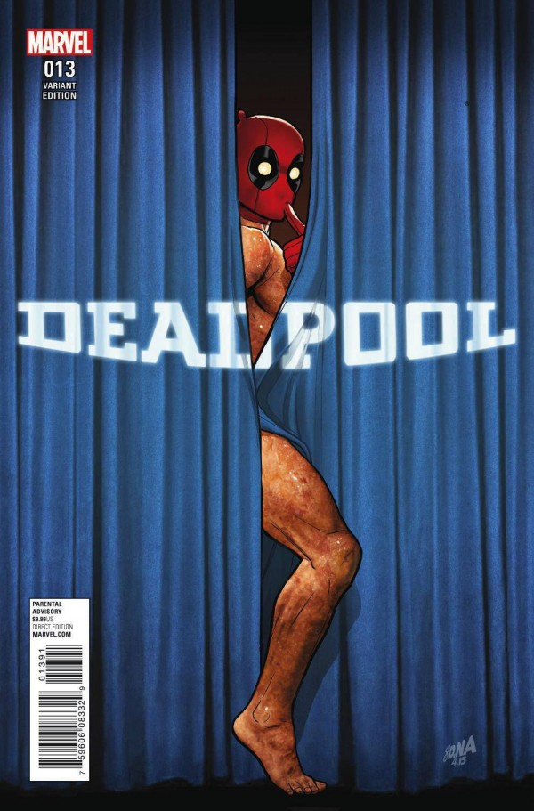 "Deadpool Marvel parodia ""Rebirth"" da DC em capa de Deadpool"