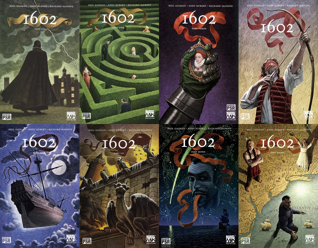 "Marvel-1602-covers-1024x800 Resenha: ""Marvel's 1602"""
