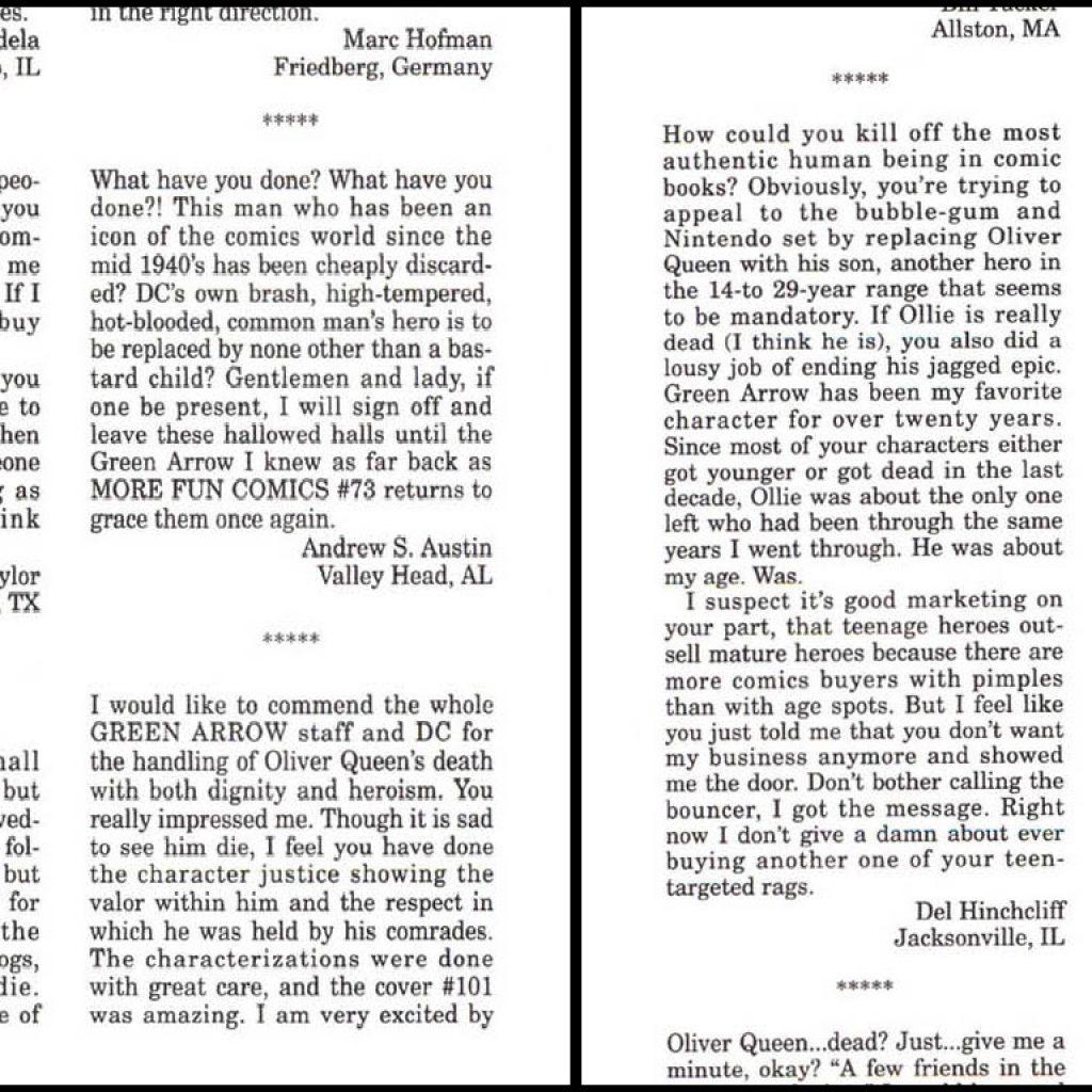 algumas-cartas-leitores-arqueiro-1024x1024 Arqueiro Verde: 75 anos de Histórias em Quadrinhos