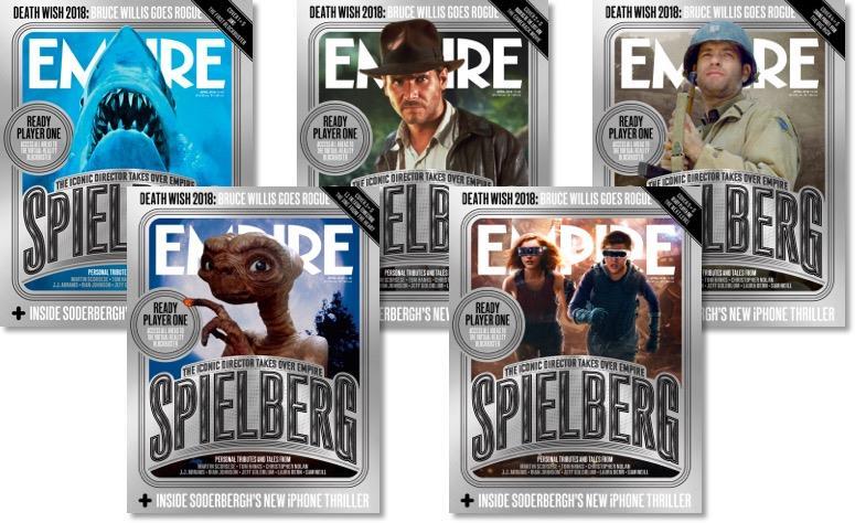 empire Revista Empire presta tributo a Steven Spielberg com 5 capas diferentes