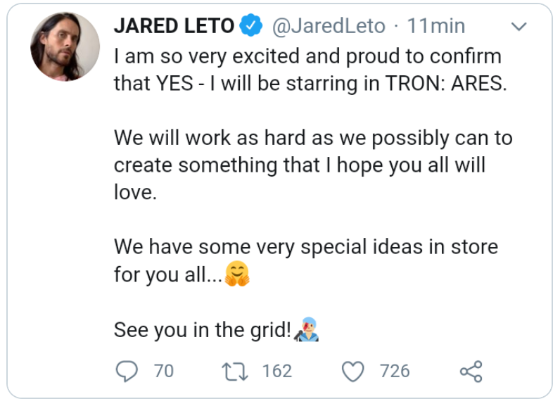tron-capt Disney vai produzir outro filme Tron com Jared Leto e novo diretor