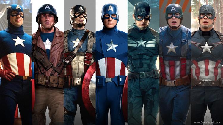 Saiba mais sobre os uniformes do Capitão América no cinema
