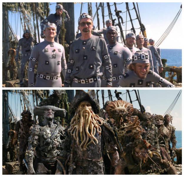 PiratasdoCaribe Bastidores de filmes famosos