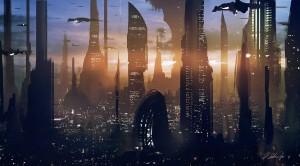 StarWarsCoruscant-300x166 Star Wars é ficção científica - Parte III - Desmistificando argumentos contrários