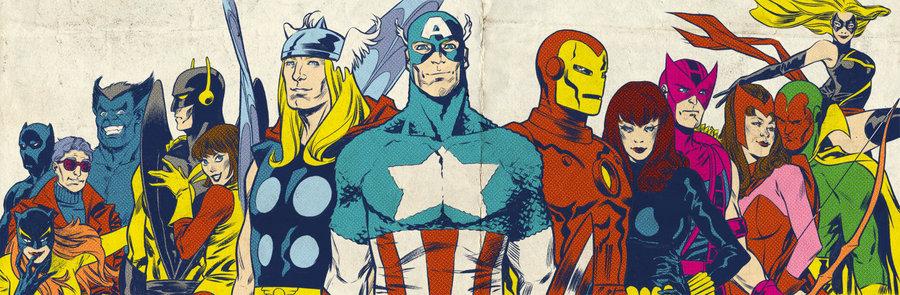 bronze_age_avengers_for_blastoff_comics_by_laraw-d4v2ifk Os Heróis dos Super-Heróis: A Era de Prata dos Quadrinhos