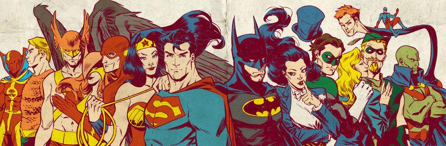 silver_age_jla_for_blastoff_comics_by_laraw-d4s0ckk Os Heróis dos Super-Heróis: A Era de Prata dos Quadrinhos